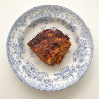 Gluten free lasagna slice