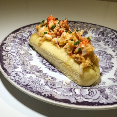 Homemade gluten free lobster roll